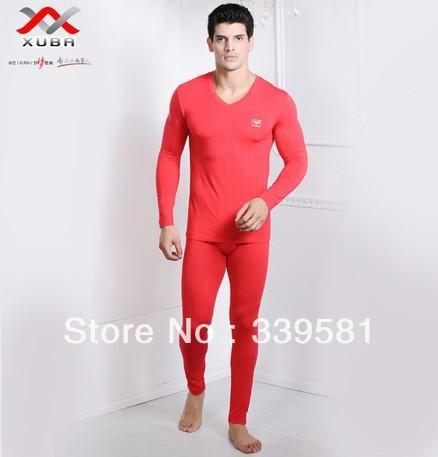 2013 New Thermal underwear suit-Austria Lenzing Modal Warm sets men-V neck - Men's Underwear Shop store