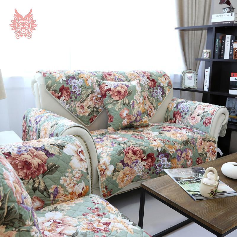 Aliexpresscom Buy American style greenpink floral  : American style green pink floral print quilting Sofa cover 100 cotton Double sided print slipcovers for from www.aliexpress.com size 800 x 800 jpeg 331kB