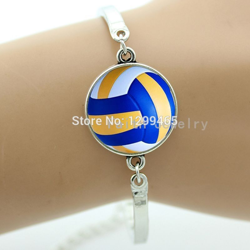 Best Deals Ever beach volleyball bangle Exquisite Classic Men's Sports volleyball art picture personality gift bracelet B 802(China (Mainland))
