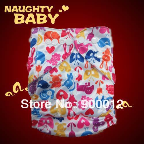Naughtybaby Popular Baby Diapers Covers Baby Kids Leak-proof Urine Trousers Cloth Diaper 50 diapers+ 100 inserts Free Shipping(China (Mainland))