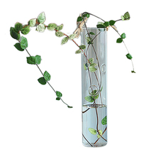 5pcs/lot European Creative hanging vase glass vase hydroponic home fashion jewelry ornaments-test tube Shape TOOGOO(R)(China (Mainland))