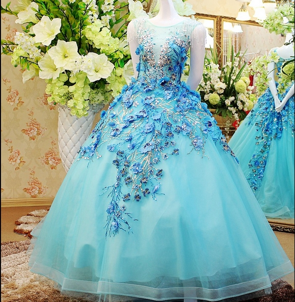 Buy cap sleeve scalloped neckline ice for Ice blue wedding dress