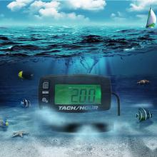 Водонепроницаемый бесплатная доставка! Подсветка цифровой индуктивный жк-tach счетчика для мотокросс ATV газонокосилка бензопилой морской