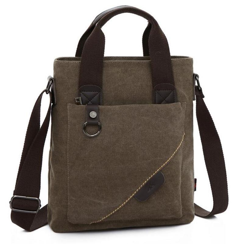 New Men Messenger Bags Canvas Vintage Bag Men Shoulder Crossbody Bags for Man Brown Black Small Bag Designer Handbags Bolso S298(China (Mainland))