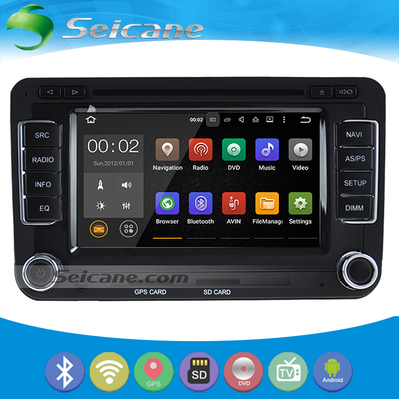 Seicane Android 5.1.1 GPS Radio DVD Bluetooth for 2003-2014 VW Volkswagen Beetle Bora Golf with Mirror link Touch Screen DVR(China (Mainland))