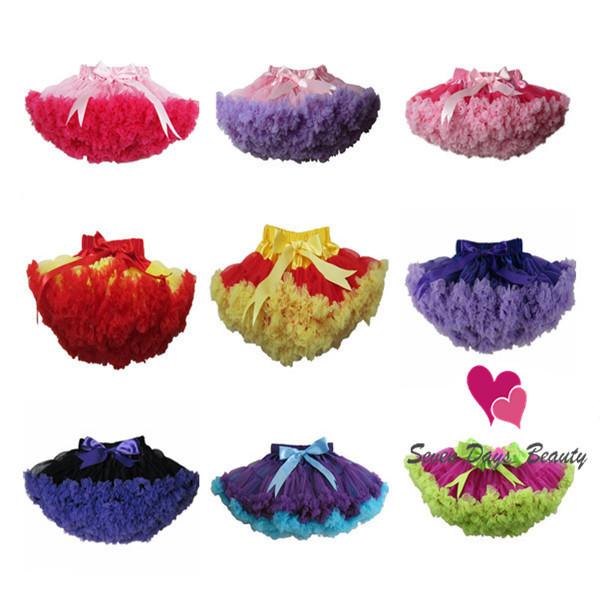 Baby Girls Knee-Length Chiffon Fluffy Pettiskirts Tutu Princess Patchwork Party Skirts Children Ball Gown Clothing Dance Wear(China (Mainland))