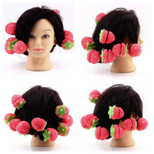 12 pcs Rollers Curlers Strawberry Balls Hair Care Soft Sponge Lovely DIY Tool Wholesale(China (Mainland))