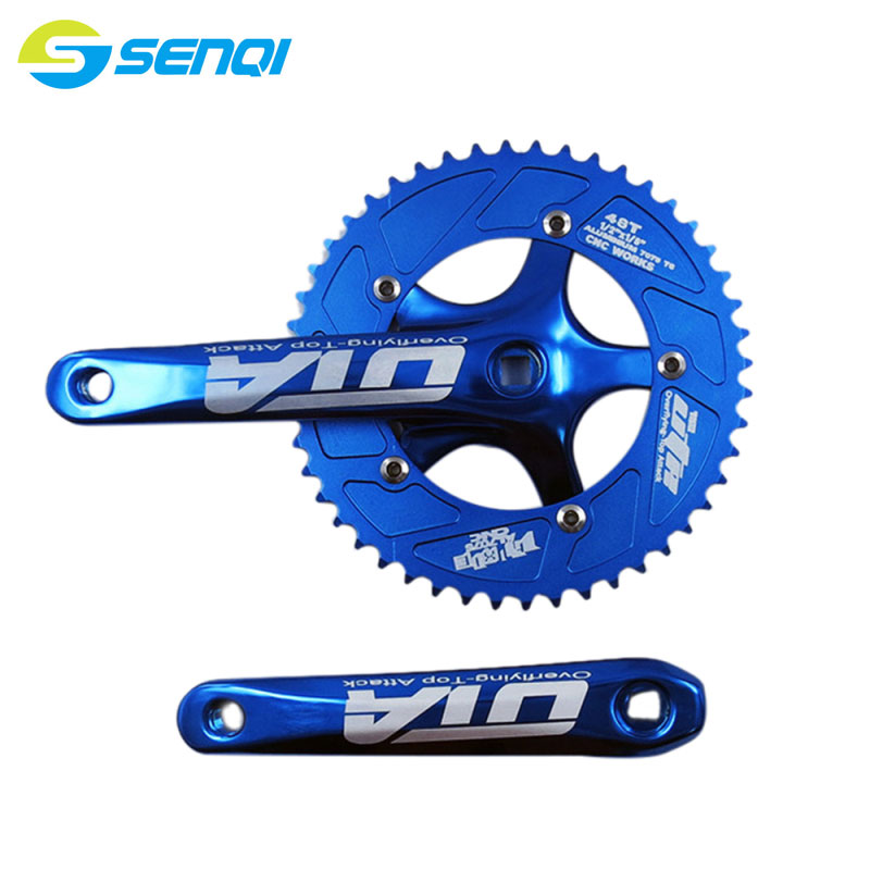 Road Bicycle Fixed Gear Bike 48T*170mm Single Speed Bicycle Crankset AL-7075 Bicycle Crank & Chainwheel DCP006(China (Mainland))