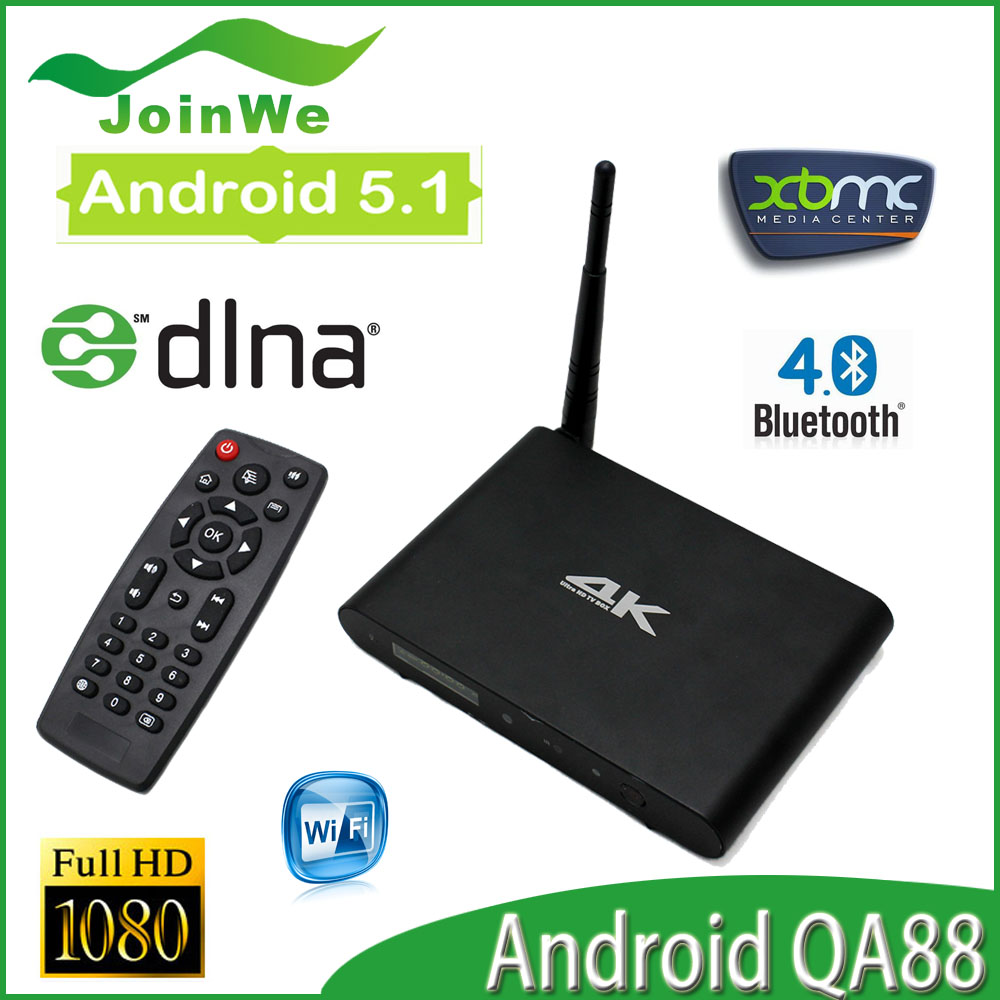 QA88 Android 5.1 Set Top Box Chipset RK3368 Octa core 2GB/8GB WIFI Bluetooth HDMI PowerVR G6110 GPU Free Shipping<br><br>Aliexpress