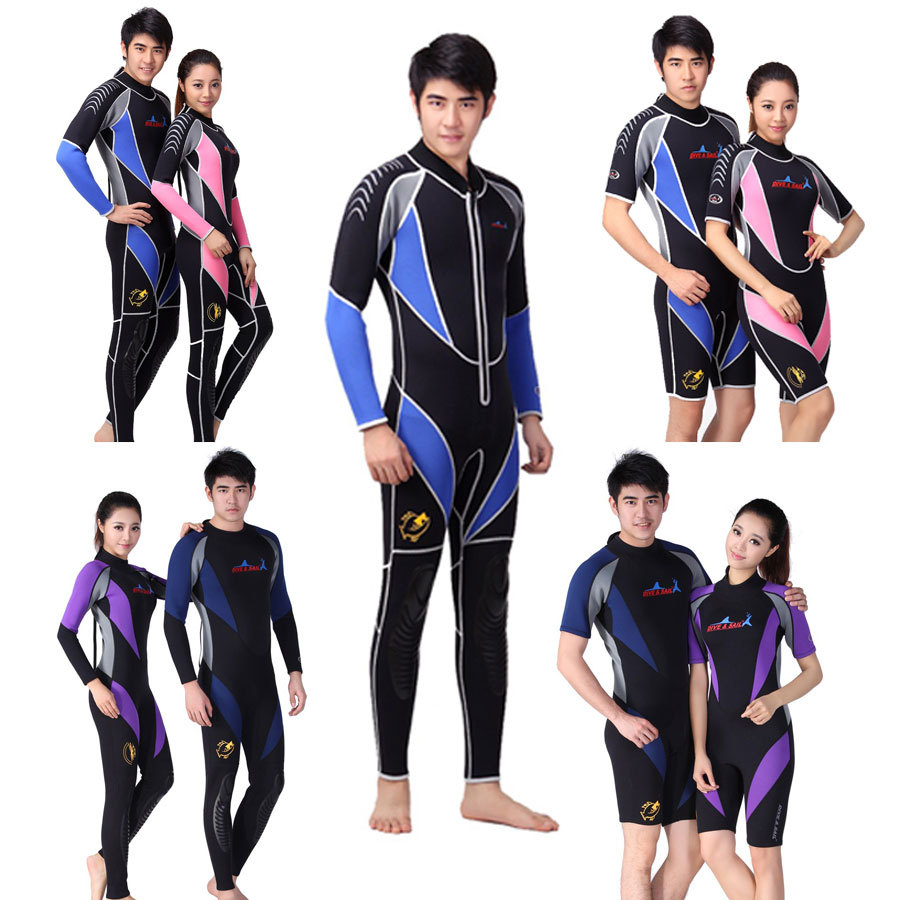 Brand NEW Wetsuit Premium Neoprene 3mm / 1mm, Jumpsuit Diving Suit, Full or Shorty 9 Designs for Selection(China (Mainland))