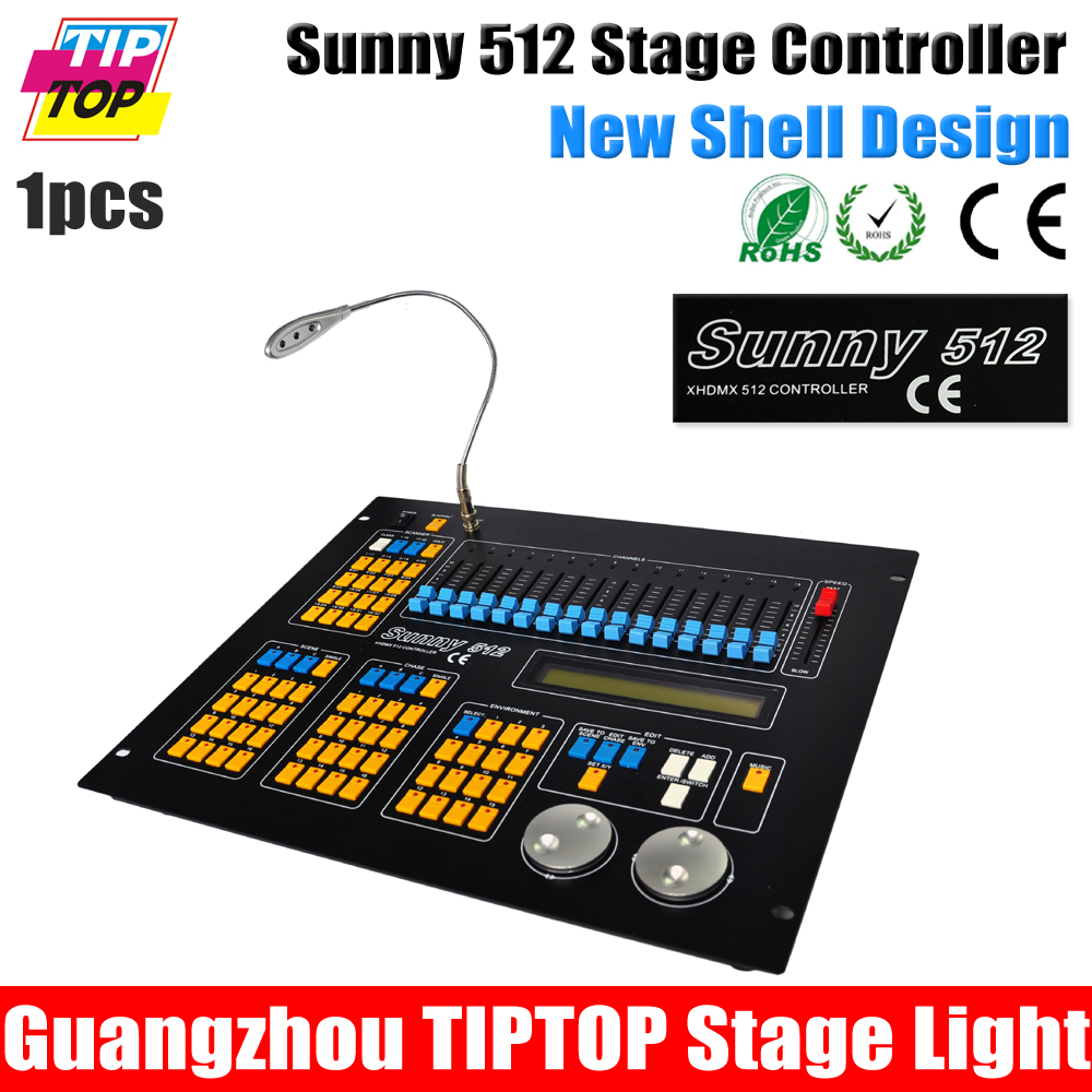 Freeshipping A-VA-LITES Sunny 512 Scanner Console Double CPU Work Mini Size MCU Proceed DMX512/1990 Standard, 512 DMX Control(China (Mainland))