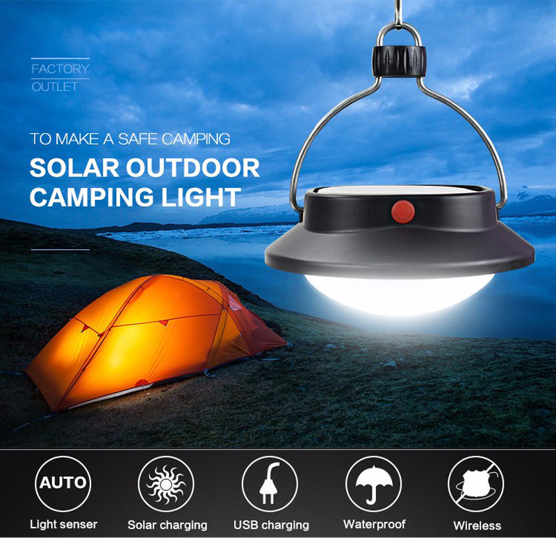 Solar Portable Lanterns Lights Lamp 60LEDs Outdoor Hanging Led Camping Lights USB Rechargeable Battery Waterproof IP65 Led Bulb (16)