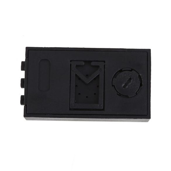 Мини-цифровых жк-авто тележки автомобиля часы приборной панели дата время календарь часы 5.50 * 3.00 * 1.00 см автомобиль часы черный