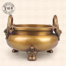 The golden snail # 20 elephant foot furnace dragon manually refined copper temple gifts tableware collection(China (Mainland))