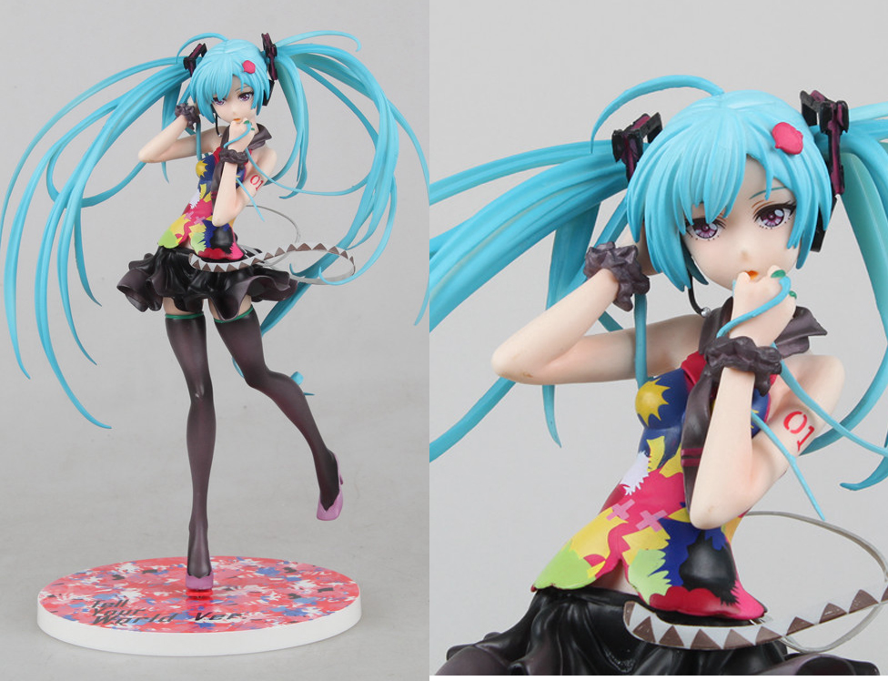 21CM Japanese Anime Doll Hatsune Miku Tell your world Ver. 1/8 Scale PVC action Figure Model Sex Toy for collection(China (Mainland))
