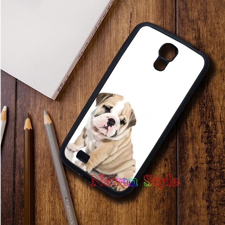 British Bulldog puppy top selling original cell phone case cover for Samsung Galaxy S3 S4 S5 S6 S7 Note 2 Note 3 Note 4*#G4383BR(China (Mainland))