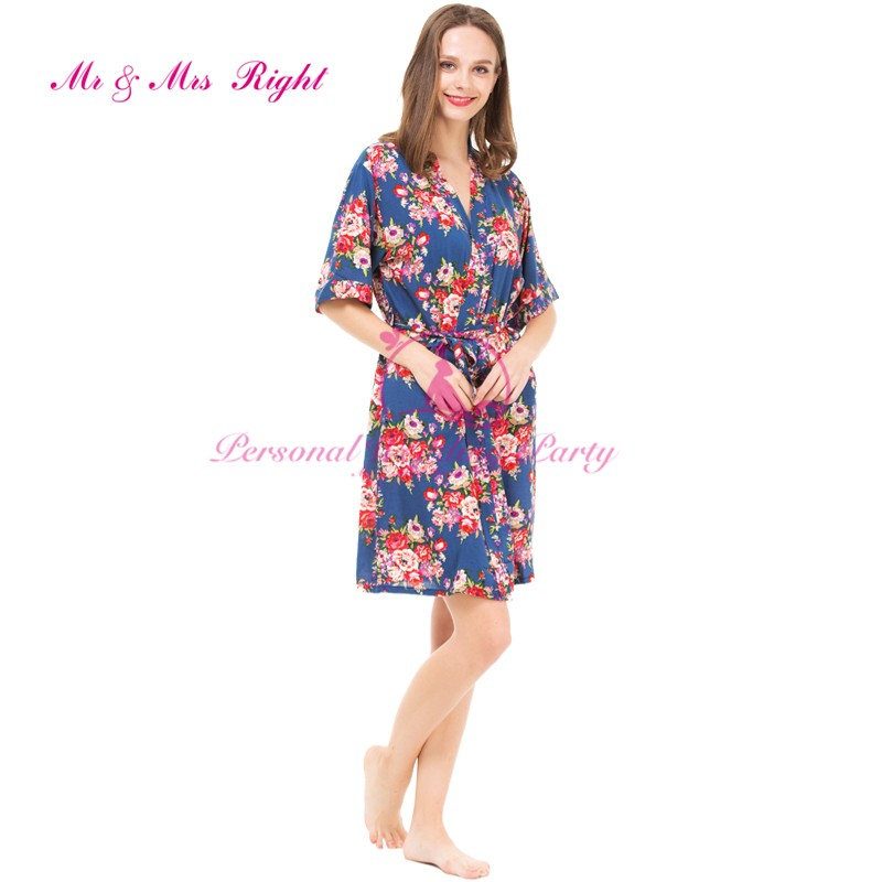 0f0c4f72ff Wholesale- Cotton Robes Floral Women Sleepwear Sisters Clothes ...