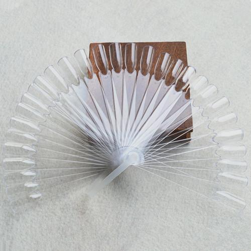 32 pcs/set Transparent/Natural False Nail Art Tips Sticks Gel Polish Display Fan Practice Tool NAO013 - Sara Products store