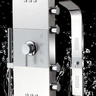 Shower copper bibcock shower column shower set shower screen stainless steel sanitary 8815-l(China (Mainland))