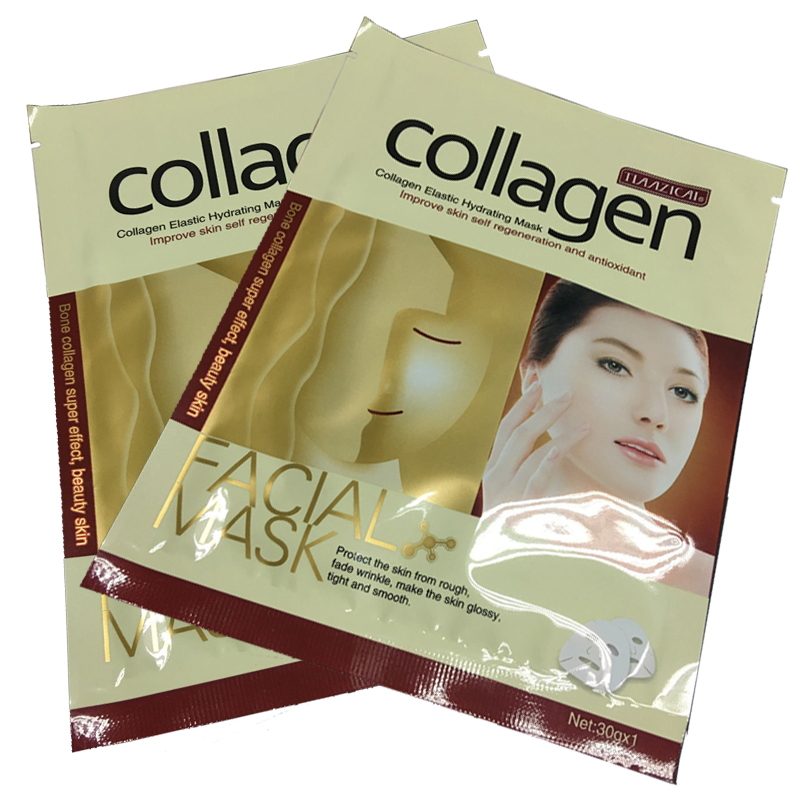 Collagen Essence Full Face Facial Mask Sheet for Moisturizing Brightening and Whitening Skin Care Mask 30ml/ 1PCS(China (Mainland))