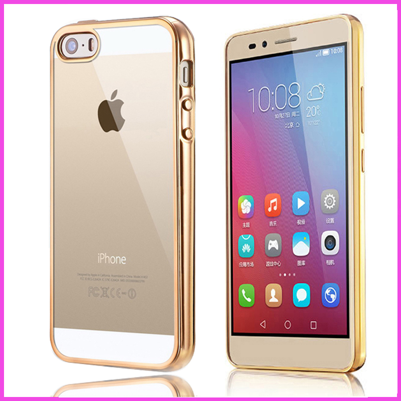 Sparkling Bling Original case for coque iphone4 iphone 4 4s s case rose gold i Thin transparent phone with light cover tpu soft(China (Mainland))