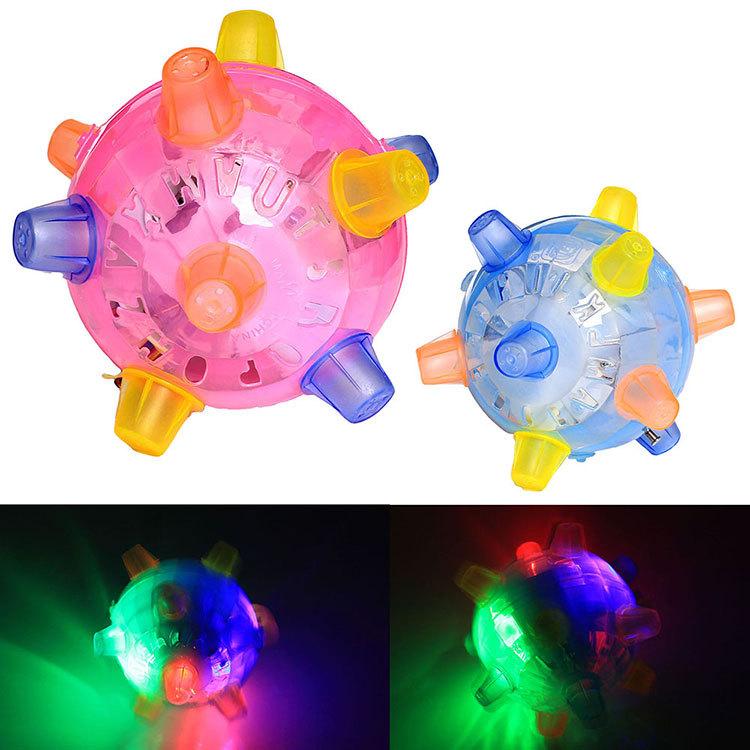 Jump Dance ball Flashing Light Music Indoor Outdoor Mini Children Kid Play Game Toy(China (Mainland))