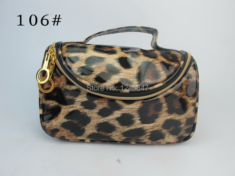 Free Shipping 1pcs/lot Wholesale Brand Cosmetic Cases,Leopard Print Makeup Cases Fashion Beauty Case Toiletry Case 106#(China (Mainland))