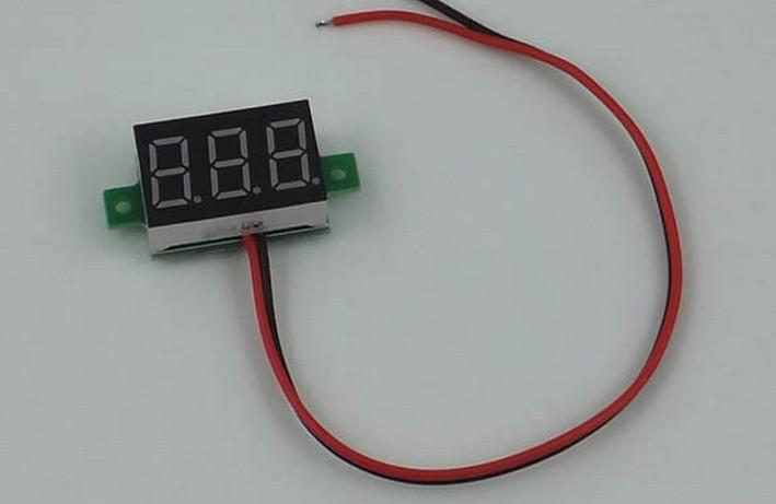 Digital Voltmeter 4.5-30v / DC 4.5V to 30V RED Digital Voltmeter Voltage Panel Meter Electromobile Motorcycle Car APS0002(China (Mainland))