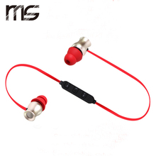 Magnet Metal Sports Bluetooth Earphone Wireless Earbud Stereo Earbuds sport Earphone