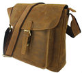 Vintage Men s Crazy Horse Leather Messenger Bag Genuine Leather Shoulder Bag Crossbody Bag Sling Casual