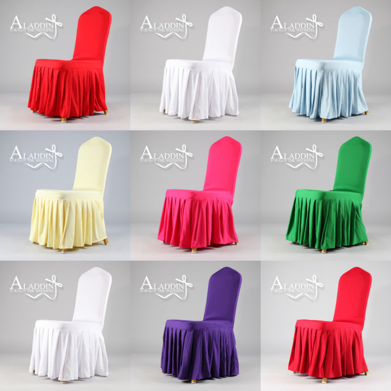 Best sell spandex pleated chair cover 2015 new model for lyrca skirting chair cover replace normal spandex hotel chair cover(China (Mainland))