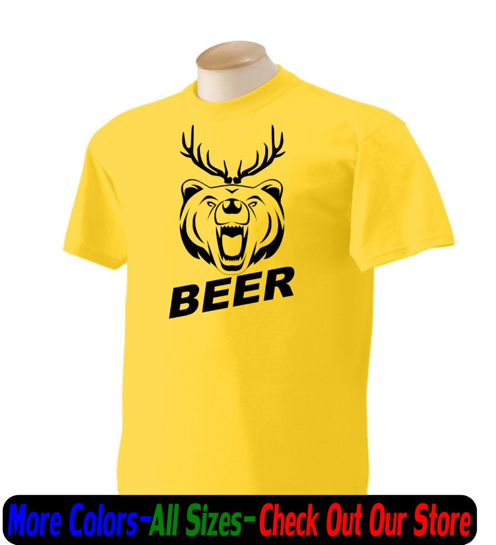 Free Shipping Personalized Beer Deer Funny T Shirt Todders