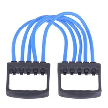 Fashion 2015 New Indoor Sports Chest Expander Puller Exercise Fitness Resistance Cable Band Yoga