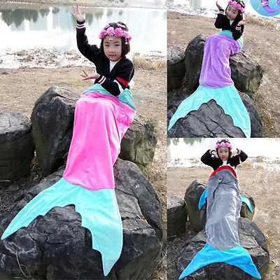 Soft Fleece Mermaid Tail Blanket Age4-16 Bed Wrap Fin Kids Cocoon Costome Cosplay Одежда и ак�е��уары<br><br><br>Aliexpress