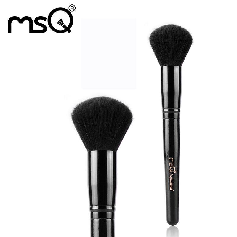 Hot!!MSQ New Product Single Black Synthetic Blush Makeup Brush Big Wood Handle Cosmetic Make up kit Free Shipping(China (Mainland))