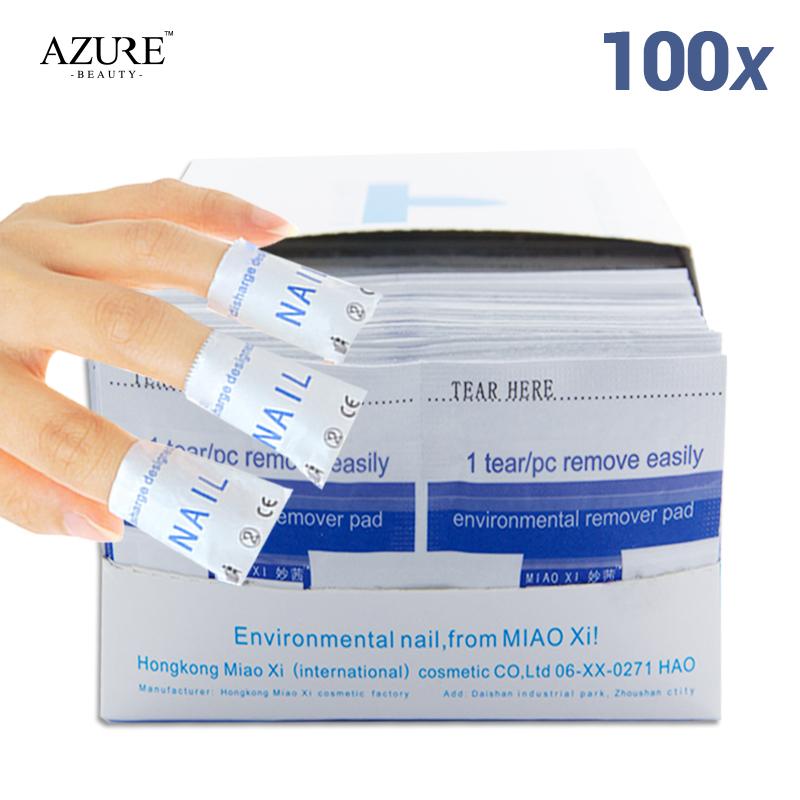 Nail polish remover 100pcs/lot nail cleaner high quality nail wraps Women Nail Art Kit Easy Use Cleaner Tools(China (Mainland))