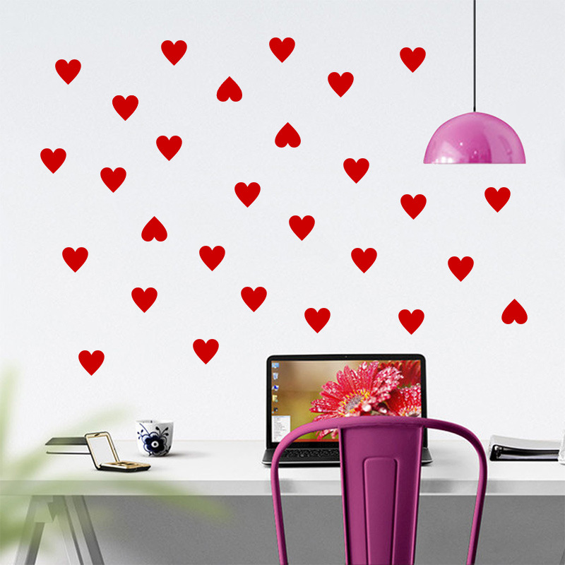 Art mural living room poster bedroom bathroom home decor mural china - Popular Hearts Wall Stickers Buy Cheap Hearts Wall
