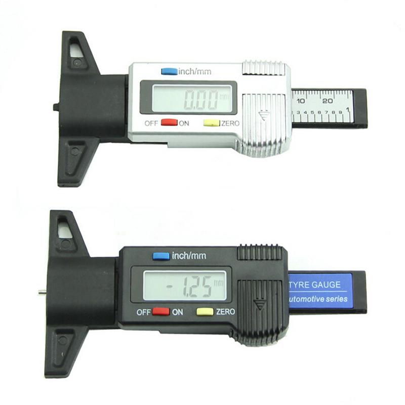 0 - 25.4 мм авто автомобиль велосипед грузовики шин шин жк-цифровой глубина протектора калибр метр метрическая дальномер серебро 2 цвета