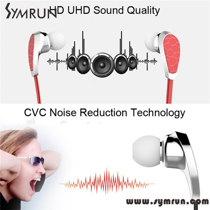 Symrun Bluetooth V4 1 Earphone Sports Gym Stereo font b Earbuds b font Headset Sweatproof Free