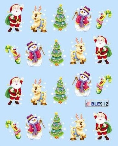 NEW ARRIVAL 50sheet/LOT Christmas Nail Art sticker Design nail accessories for nail art+individually package(China (Mainland))