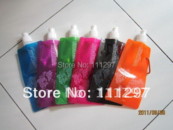 Travel Portable Folding water bag / environmentally friendly water bottle / sports cups ice pack liquid bottle bags 200 pcs/lot