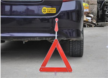 PVC Folded plastic parking triangle sign warning board Reflective Signs Auto Car Warning Triangles for Tripod Fault Prompt 1pc(China (Mainland))