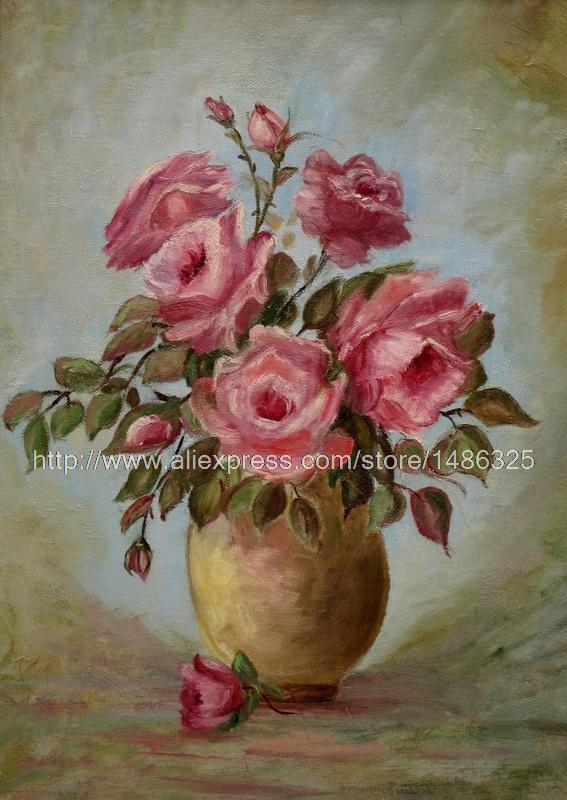 canvas paintings realistic landscape living room wall painting Modern painting Flower s fresh Flower s Radiant Roses(China (Mainland))