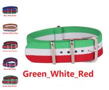 Otan 18 mm Nylon verde blanco Ren reloj correa de la banda para el reloj de acero inoxidable hebilla 18 mm