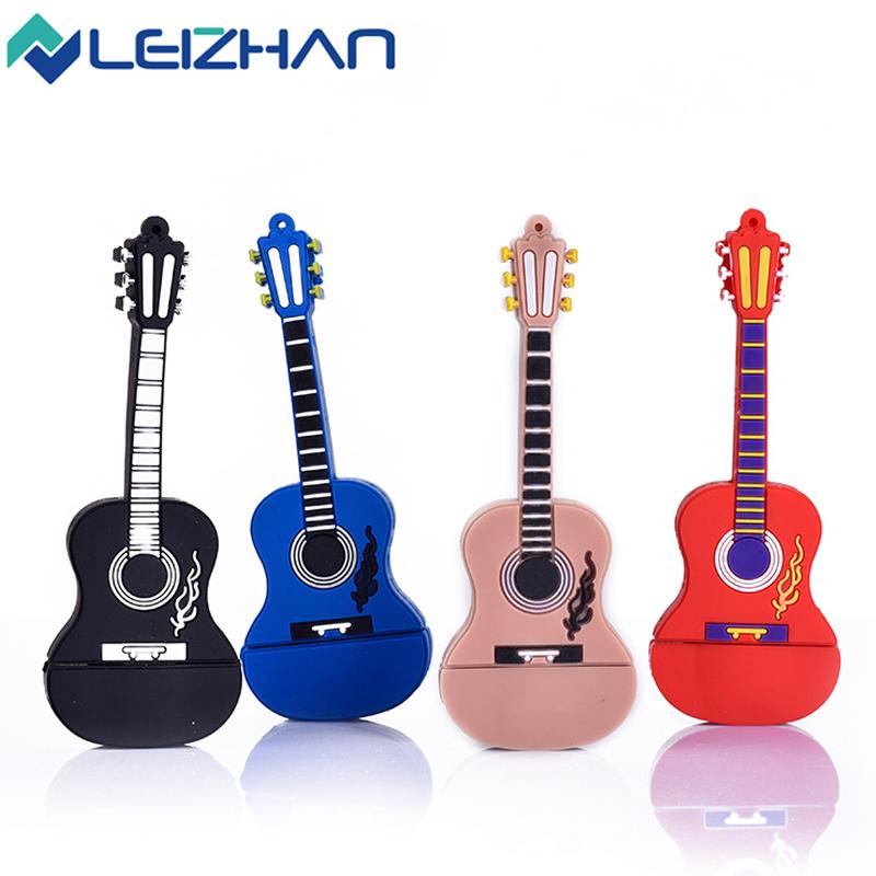 100% Full capacity pendrive lovely guitar pen drive 4GB 8GB 16GB 32GB usb flash drive U disk usb flash memory stick(China (Mainland))