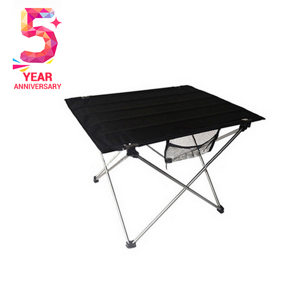 0.9 kg weight 74*53*53 cm size Aluminum alloy structure Oxford face Folding table for outdoor dinner Picnic party(China (Mainland))