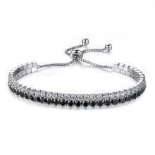 UMODE moda urok bransoletki tenisowe dla kobiet mężczyzn kolorowe cyrkonu biżuteria Box łańcuch Braclets prezenty Pulseira Feminina AUB0097(China)