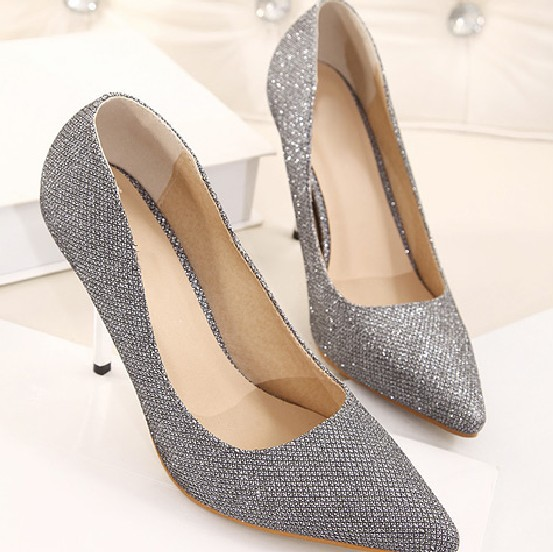 Aliexpress.com : Buy 2014 Women Pumps sexy Silver grey heels 9cm ...