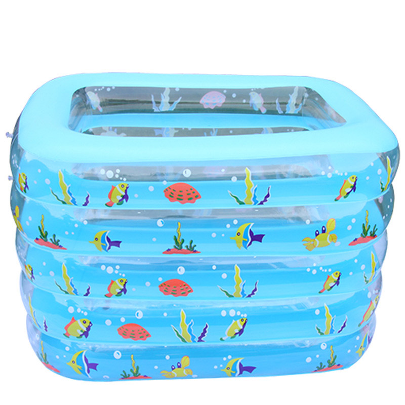 Portable Square inflatable baby swimming pools five layers square plastic pool infant babies wimming pools piscina hinchable(China (Mainland))