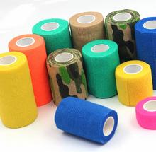 5CM*4.5M Sports Elastic Bandage Multicolour Non-woven Medical Ankle Support Belt Sports Safety Tape Bandage(China (Mainland))